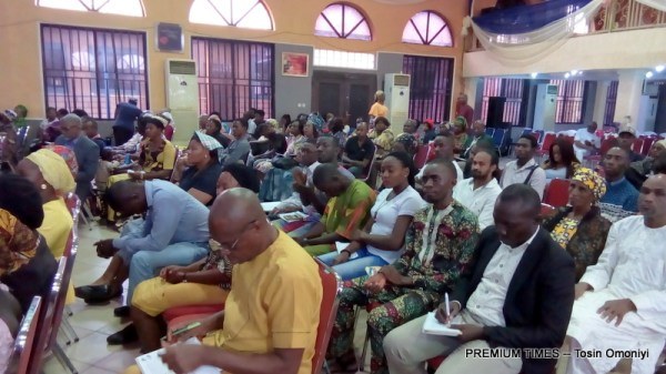 Cross section of participants at a skills acquisition and empowerment programme organised by The Everlasting Arms Parish (TEAP) under the Redeemed Christian Church of God (RCCG), Abuja