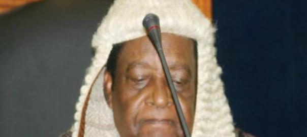 Aloysious Katsina-Alu, ex-Chief Justice of Nigeria. [Photo credit: The Nigerian Voice]