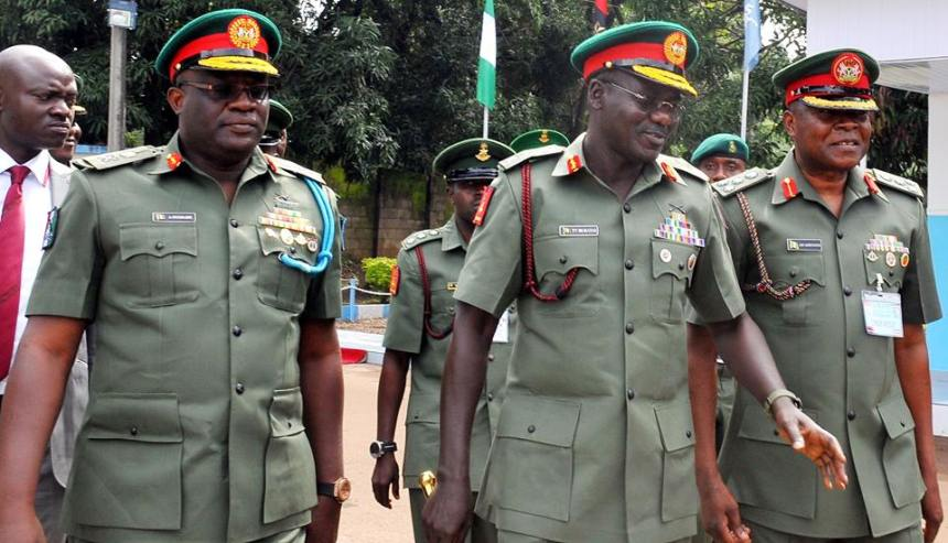 Top Army chiefs