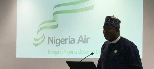 Nigerian Aviation Minister, Hadi Sirika at the launch of Nigeria Air