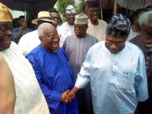 Obasanjo with Bode George
