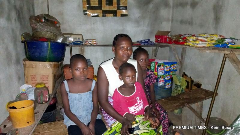 Rhoda and three of her children