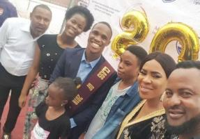 Saidi and Fathia at their son's graduation