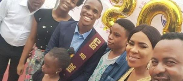 Saidi and Fathia at their son's graduation