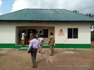 School clinic donated to Adadia Secondary Sch, Uruan, by corp member, Esther Akpan