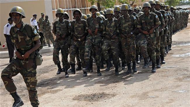 Somalia soldiers used to illustrate the story. [Photo credit: PressTV]