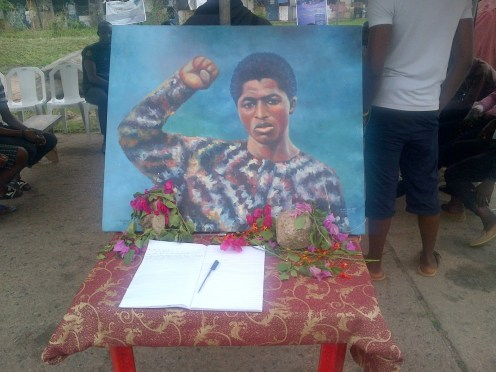Students of Obafemi Awolowo University (OAU) Ile Ife commemorate July 10th to in honour of Yemi Iwilade Afrika and others that were killed (Photo Credit: OAU Peeps)