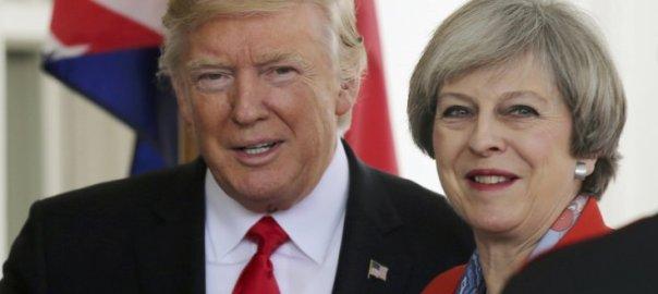 Donald Trump and Theresa May [Photo: TheHill.uk]