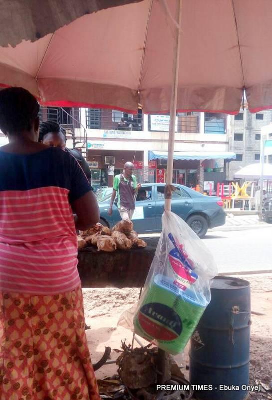Mama Oyibo food stand beside Wuse Market, Abuja.