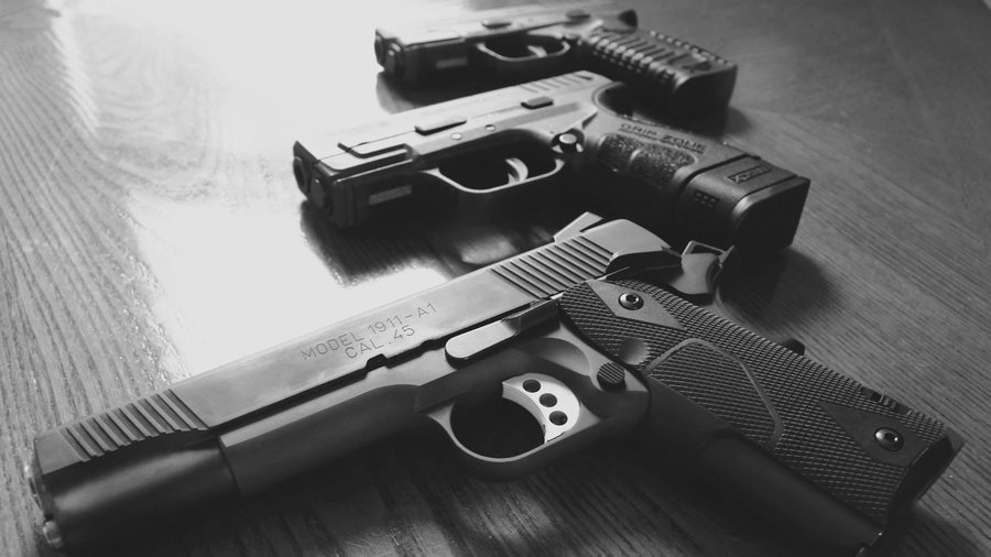 Guns used to illustrate arms in the story. [Photo credit: NPR]