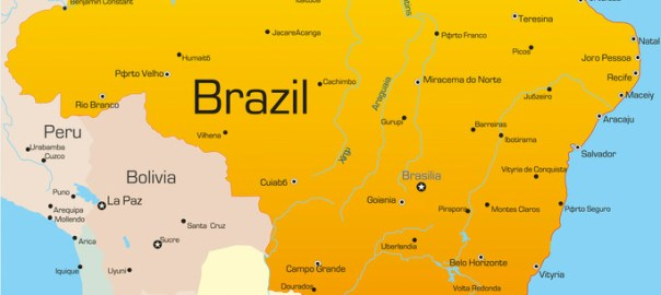 Brazil map used to illustrate the story. [Photo credit: Samba – Taste of Brazil]