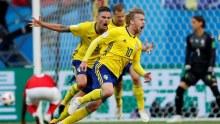 Emil Forsberg celebrates the goal (Photo Credit: Reuters)