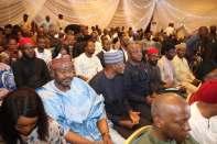 Senate President, Bukola Saraki declaring his intention to run for president of the federal rebublic of Nigeria. [PHOTO CREDIT: Saraki Media Office]
