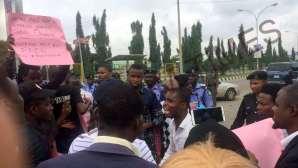 #FreeSamuelOgundipe: Protest rocks Abuja over police detention of PREMIUM TIMES journalist
