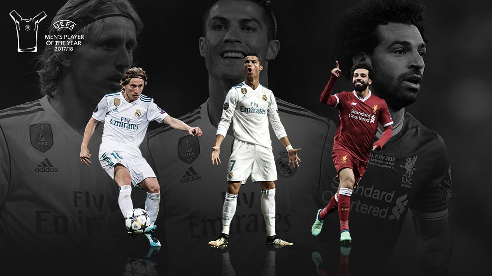 Modric, Ronaldo and Salah final UEFA Player of the Year nominees