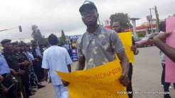 Protesters gather at police headquarters as Samuel Ogundipe is released