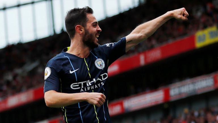 Bernado Silva celebrates goal (Photo Credit: Reuters)