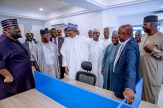 President Buhari inspects Renovation Works at Proposed Buhari-Osinbajo Campaign Office in Abuja