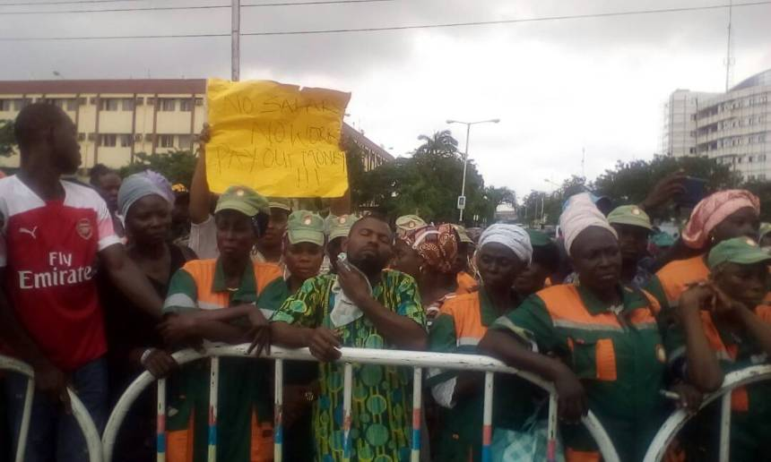 Some of the 'Cleaner Lagos' workers