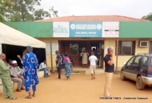 Frontal view of Ota, Ogun State Licensing office/Board of Internal Revenue