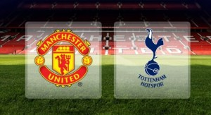 Manchester United and Tottenham logo's used to illustrate the story.