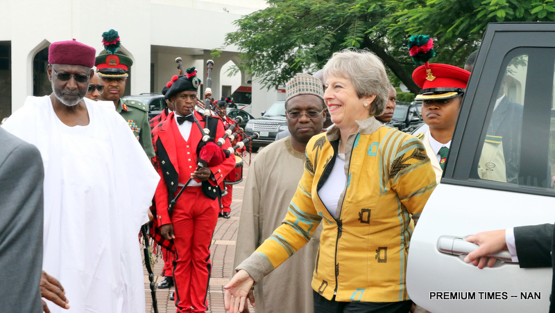 President Muhammadu Buhari (R) introducing members of his cabinet to the visiting British Prime Minister, Theresa May at the Presidential Villa in Abuja on Wednesday (29/8/18) 04691/29/8/2018/Callistus Ewelike/NAN Pic 11. British Prime Minister, Theresa May arriving the Presidential Villa Abuja for a meeting with President Muhammadu Buhari at the Presidential Villa in Abuja on Wednesday (29/8/18) 04692/29/8/2018/Callistus Ewelike/NAN