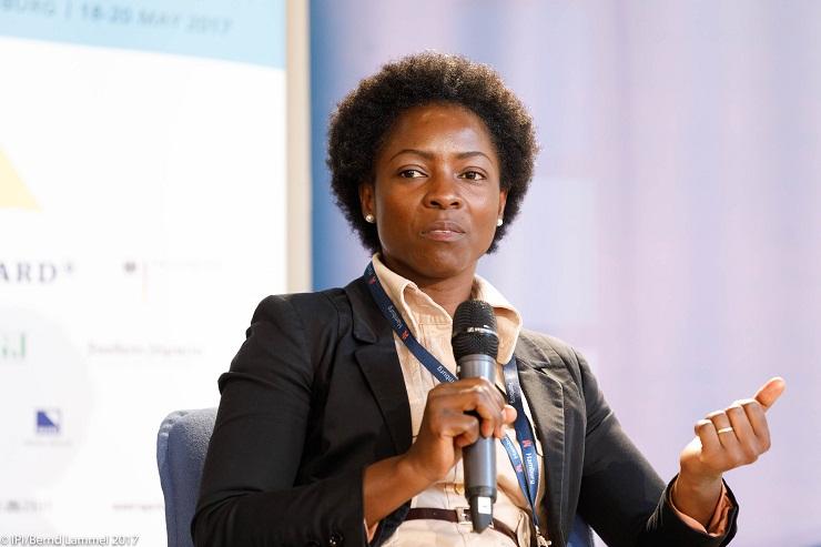 Joan Chirwa at the IPI World Congress 2017 {Foto © Bernd Lammel - Telef.: +49 (172) 311 4885 - DEU / Hamburg / 2017}