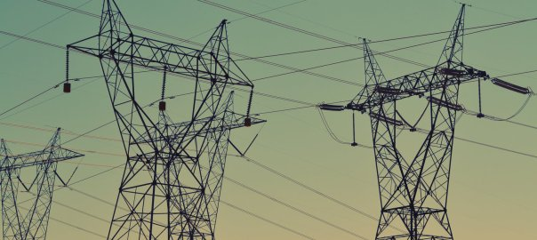 High tension electric powerlines