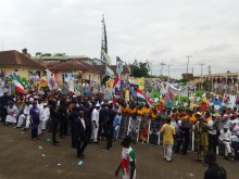 A PDP rally used to portray the story