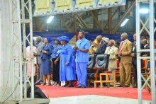 Pastor Adeboye and wife at the Redeemed Church annual convention