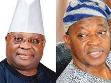 Ademola Adeleke (PDP) and Gboyega Oyetola (APC), candidates who vied for the governor seat in Osun State.