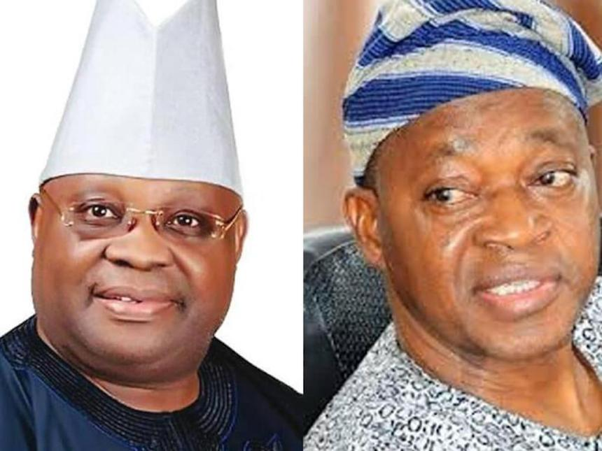 Image result for oyetola defeats Adeleke