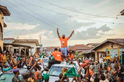 Davido steals show at Adeleke's campaign rallies
