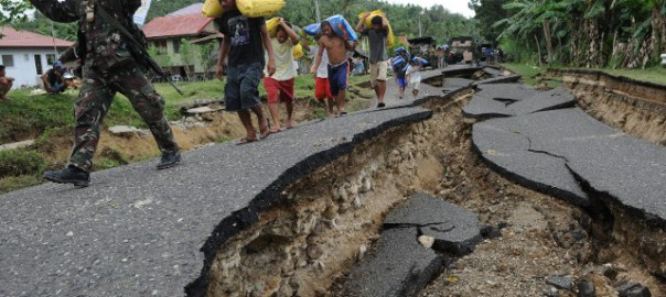 Earth quake in Philippines [NAN}