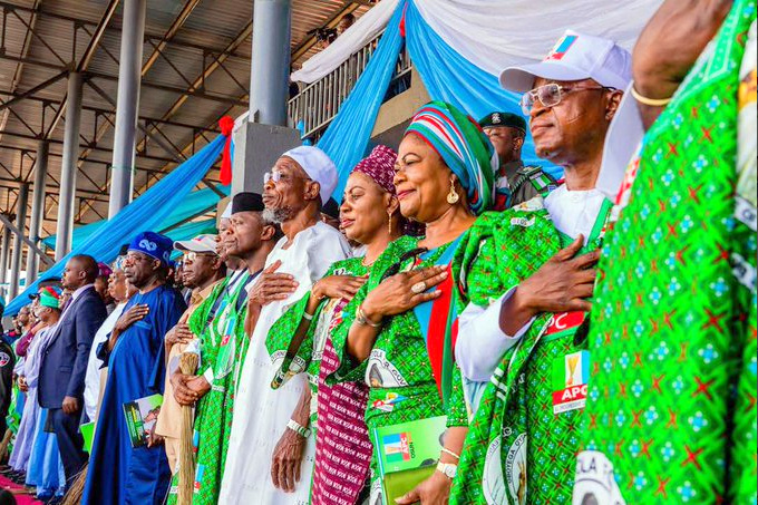 APC accused the PDP of pasting posters in order to cause discord within the ruling party and distracting it from governance.