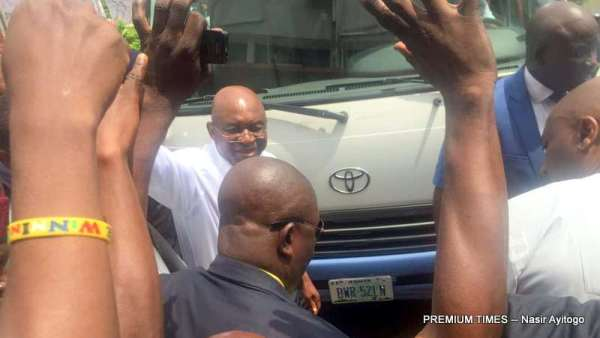 David Mark arriving the PDP Headquarters