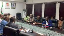 Ngige addressing journalist in his office