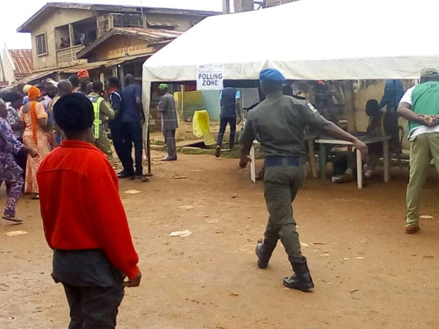 Image result for Security forces at polling stations during 2019 elections in Nigeria