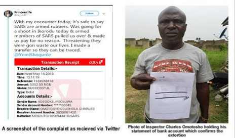 Dismissed inspector of the Nigerian Police Force attached to the Federal Special Anti-Robery Squad (FSARS), Charles Omotosho,