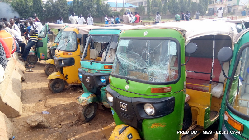 Almost 50 tricycles damaged as Protesting 'Keke Napep' Drivers Ground activities in parts of Abuja