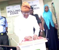 APC candidate Oyetola votes, speaks on likelihood of victory