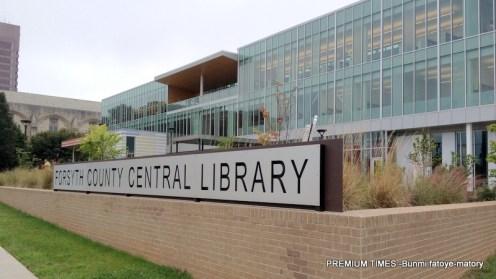 Forsyth County Library, North Carolina.