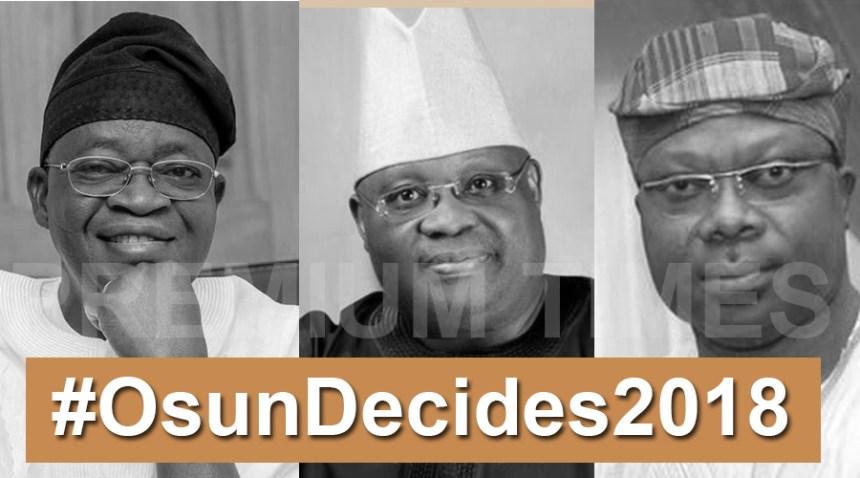 Photo Collage of #OsunDecides2018 top gubernatorial aspirants