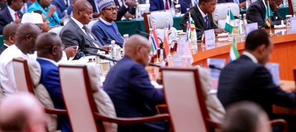 President Muhammadu Buhari in China