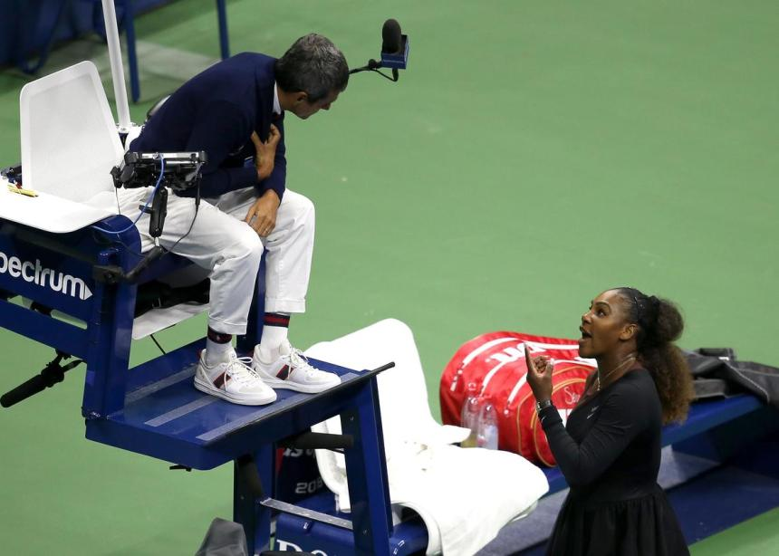 Serena confrontation with Ramos. [PHOTO CREDIT: slate.com]