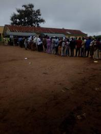 At 8:20am PU 01, Ward 1, Awo Pry Sch/ Egbedore LGA. Accreditation and Voting commenced. About 15 people has voted for now and there's no issues.