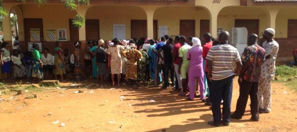 PU 03 st Matthew pry school ward 03 ijebu ijesha oriade lga voting still on at 3:35pm