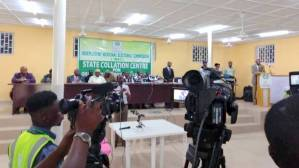 INEC HEadquaters in Osun opens media centre for coalition of results.