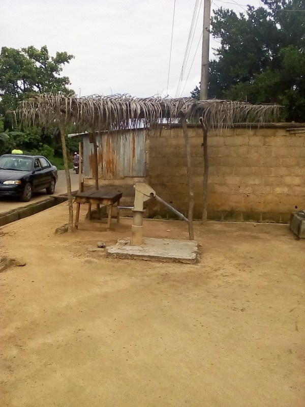 A ten-year old ineffective hand pump borehole at Tanimowo