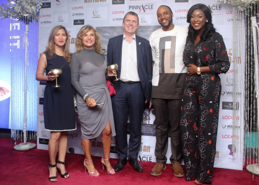 From Right Lota Chukwu, Kalu Ikeagwu and other guests at the premiere